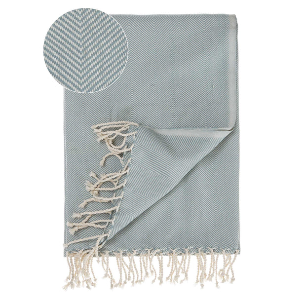 Laza Hammam Towel grey green & white, 100% cotton