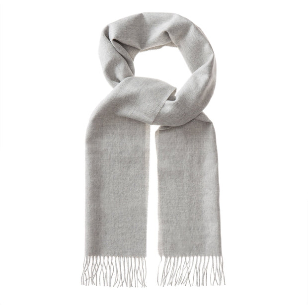 Limon Alpaca Scarf light grey, 100% baby alpaca wool