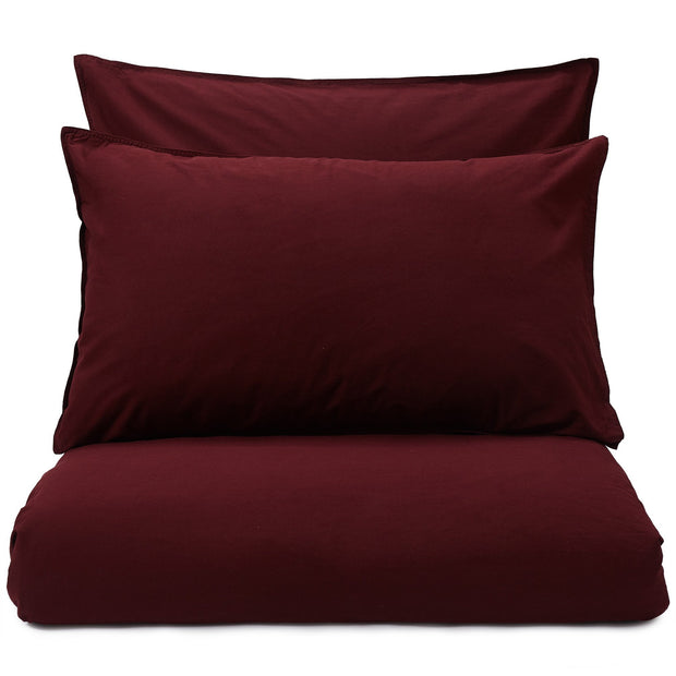 Luz duvet cover, bordeaux red, 100% cotton