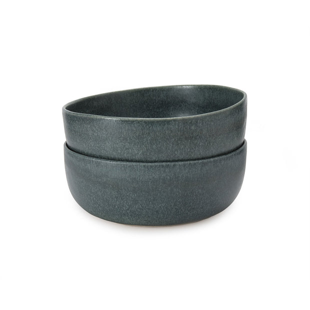 Malhou bowl, grey green, 100% stoneware