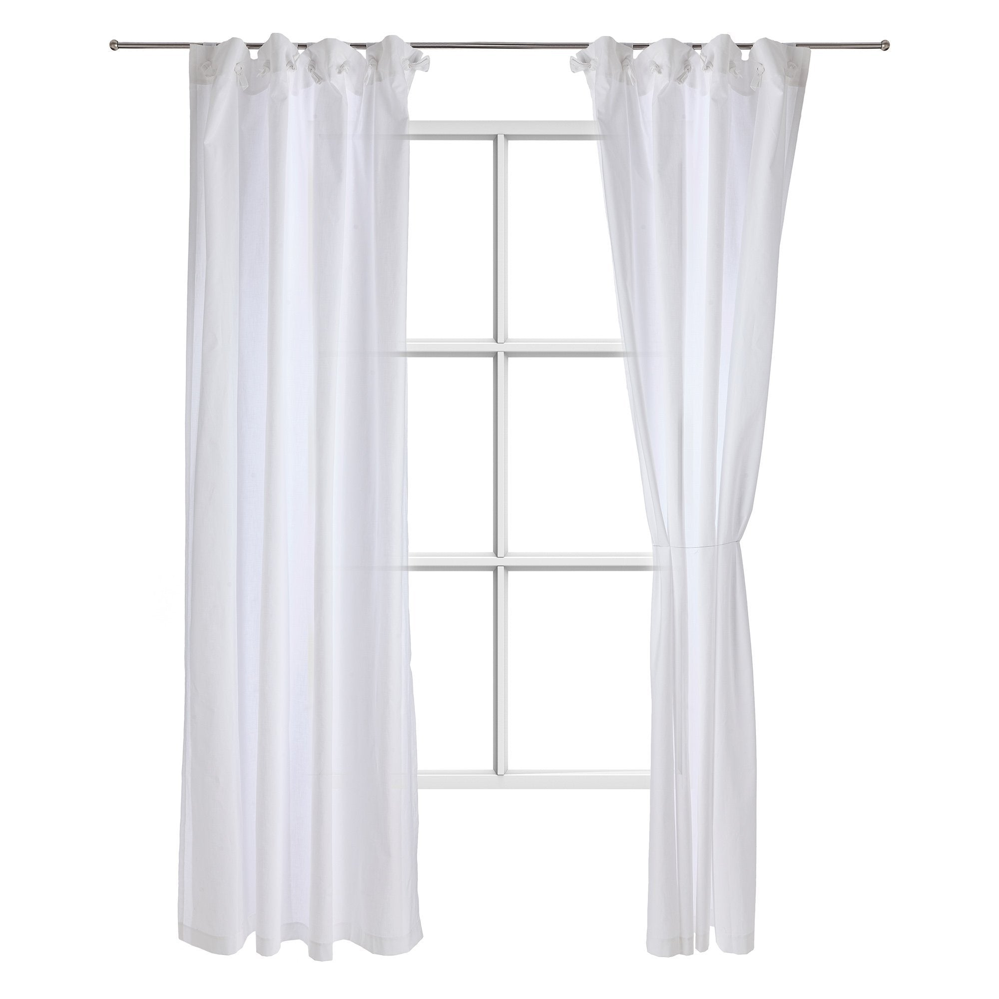 Maninho curtain, white, 100% cotton