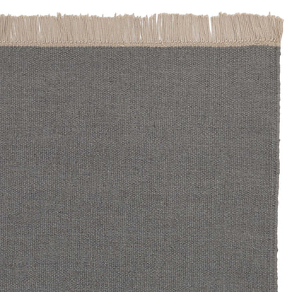Manu rug, green grey, 50% new wool & 50% cotton