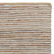 Metz Rug warm brown & natural, 20% jute & 20% leather & 60% cotton