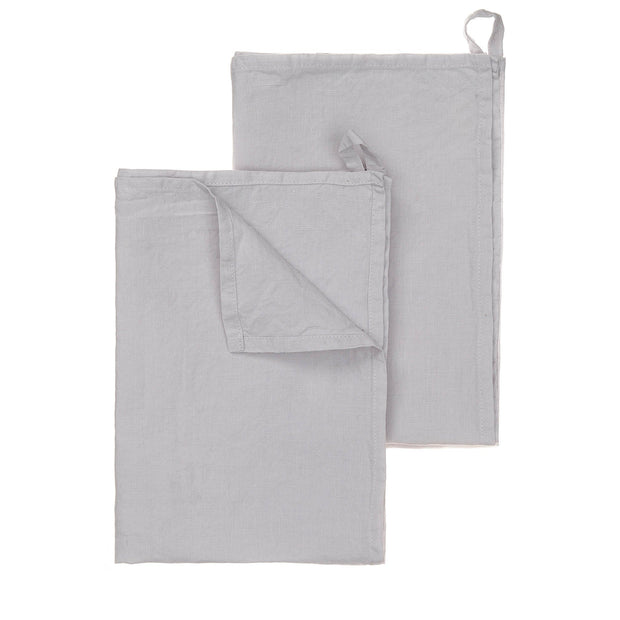 Miral tea towel, light grey, 100% linen
