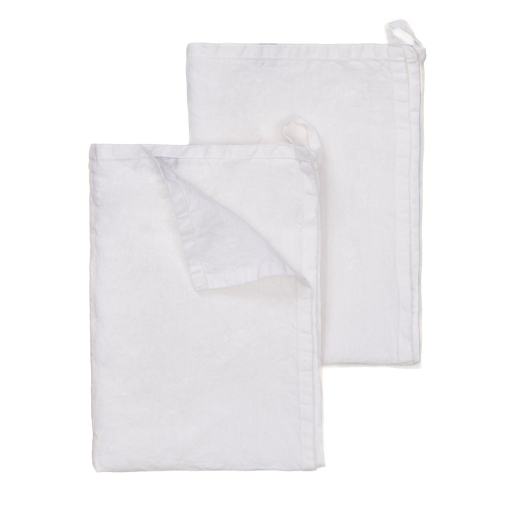 Miral tea towel, white, 100% linen