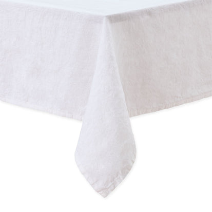 Miral table cloth, white, 100% linen