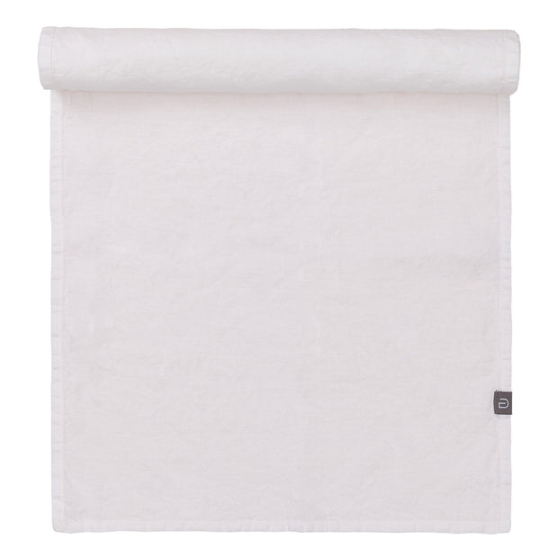 Miral table runner, white, 100% linen