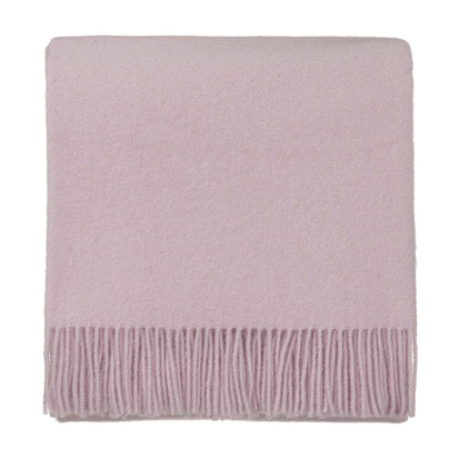 Miramar blanket, powder pink, 100% lambswool