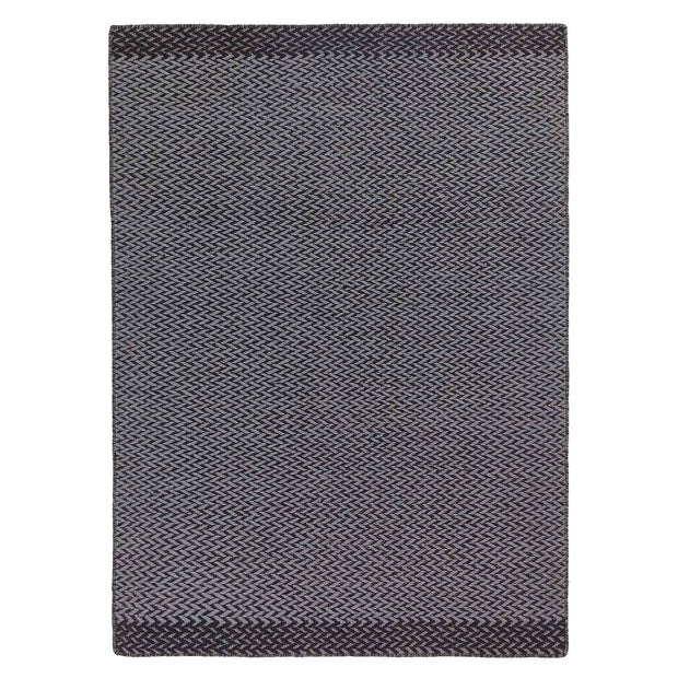 Modiya rug, grey & light grey, 100% wool | URBANARA wool rugs