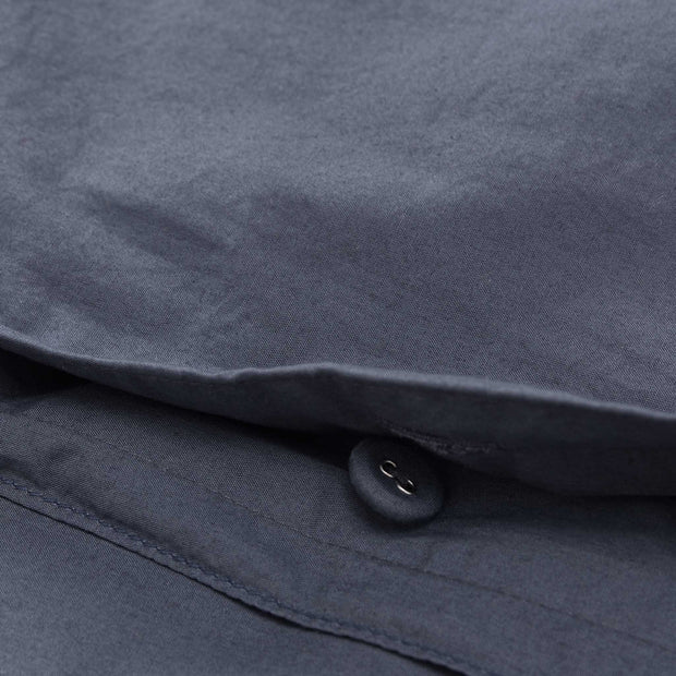Moledo Percale Bed Linen dark grey blue, 100% organic cotton | URBANARA percale bedding