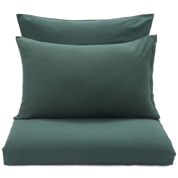 Montrose Flannel Pillowcase dark green, 100% cotton