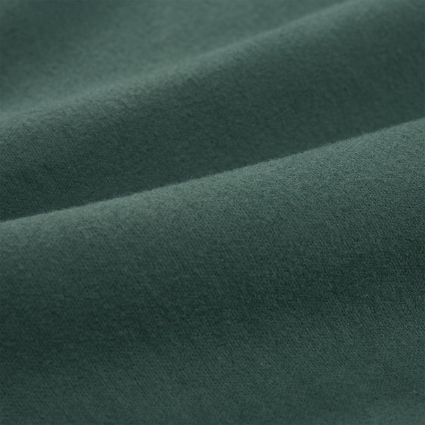 Montrose Flannel Pillowcase dark green, 100% cotton | URBANARA flannel bedding
