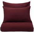 Montrose Flannel Pillowcase bordeaux red, 100% cotton