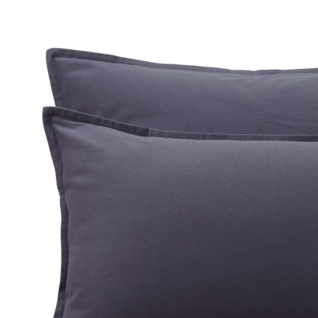 Moreira Flannel Bed Linen grey, 100% cotton | URBANARA flannel bedding