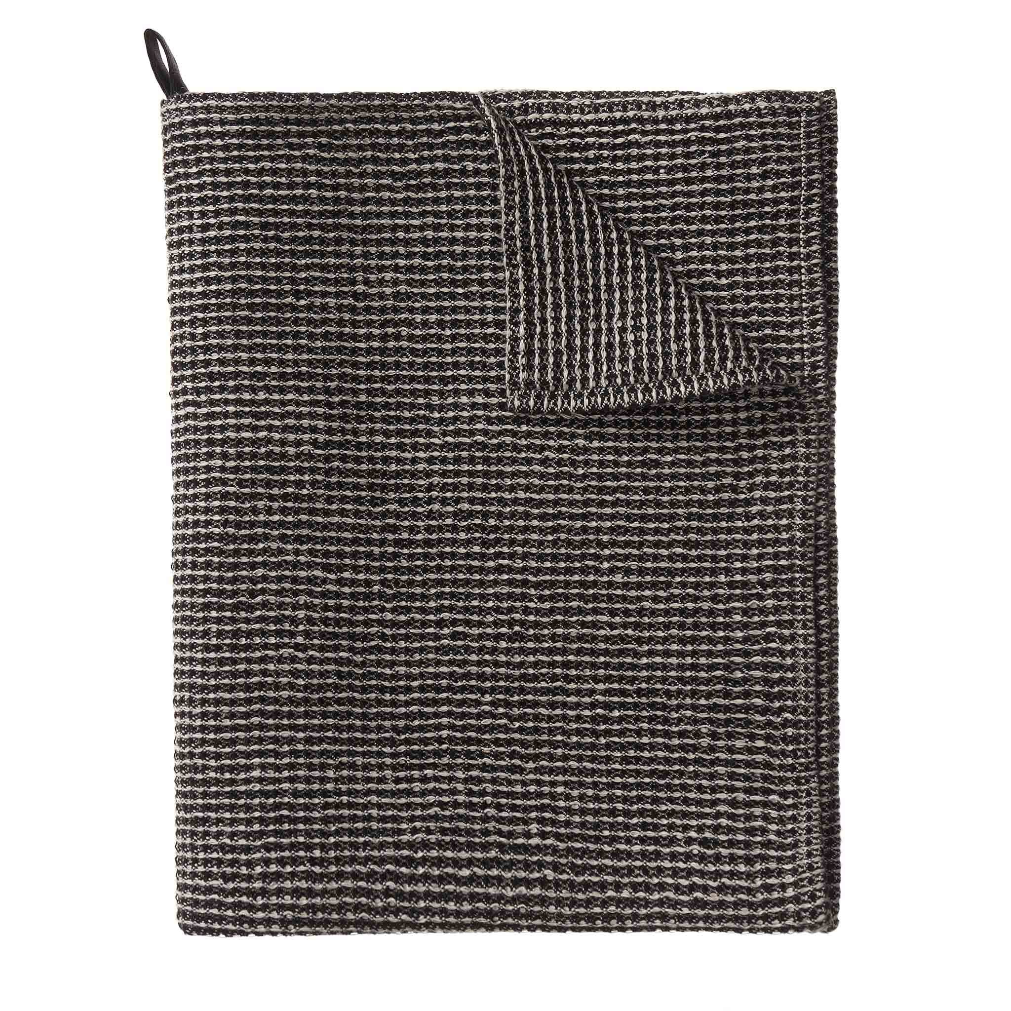 Motrai Tea Towel black & beige, 50% linen & 50% cotton