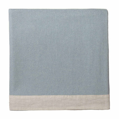 Naggu Cashmere Blanket green grey & natural, 100% cashmere wool & 100% linen