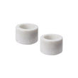 Nanda candle holder, white, 100% marble | URBANARA candles & scents