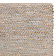 Nattika rug, white & natural, 45% leather & 45% jute & 10% cotton