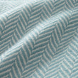 Nerva blanket, mint & cream, 100% cashmere wool |High quality homewares