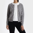 Nora cardigan, light grey, 50% cashmere wool & 50% wool