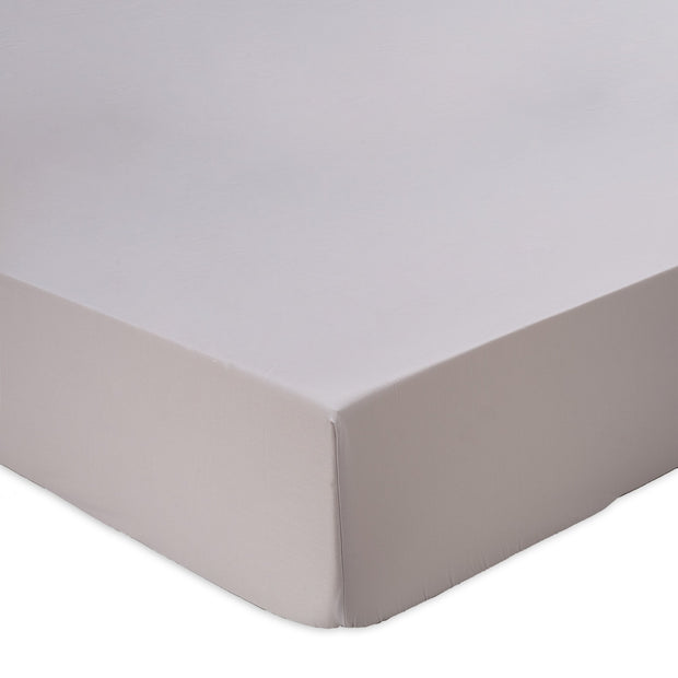 Oufeiro fitted sheet, light grey, 100% organic cotton
