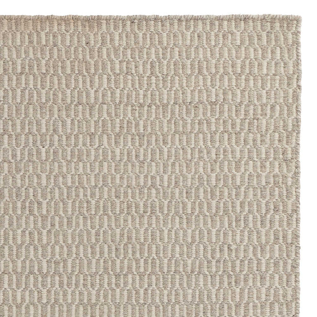 Overod Rug light grey & off-white, 100% new wool & 50% cotton