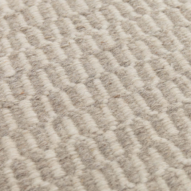 Overod Rug light grey & off-white, 100% new wool & 50% cotton | High quality homewares