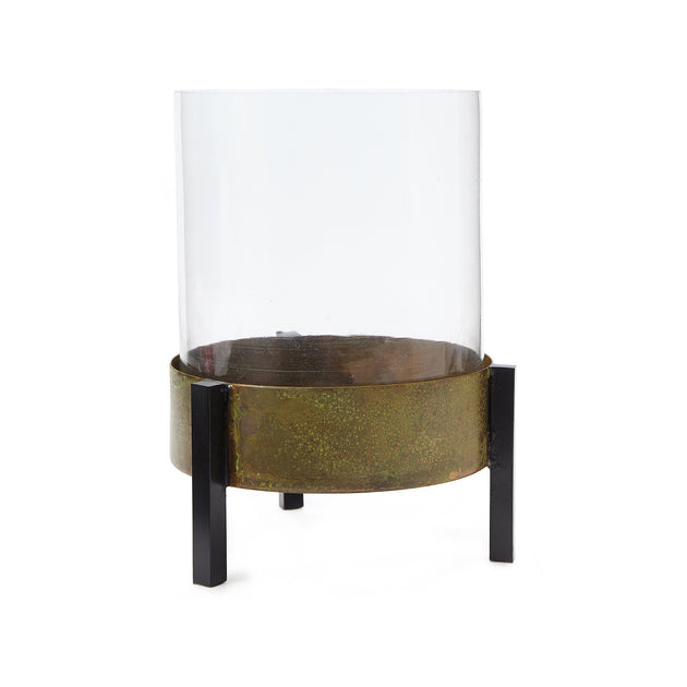 Ozar Windlight Candle Holder in brass & mustard & black | Home & Living inspiration | URBANARA