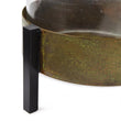 Ozar Windlight Candle Holder brass & mustard & black, 100% glass & 100% metal | URBANARA candles & scents