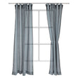 Rajula linen curtain light green grey & black, 100% linen & 100% cotton