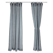 Rajula linen curtain in light green grey & black | Home & Living inspiration | URBANARA