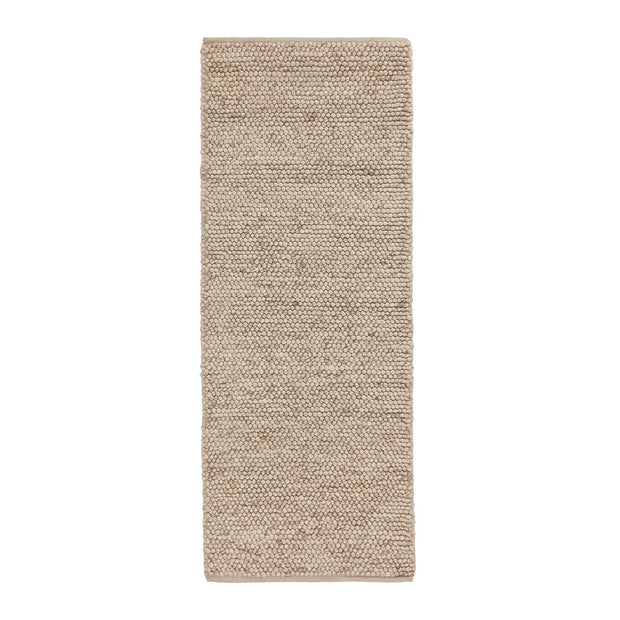 Ravi runner, natural white, 70% new wool & 30% viscose | URBANARA runners