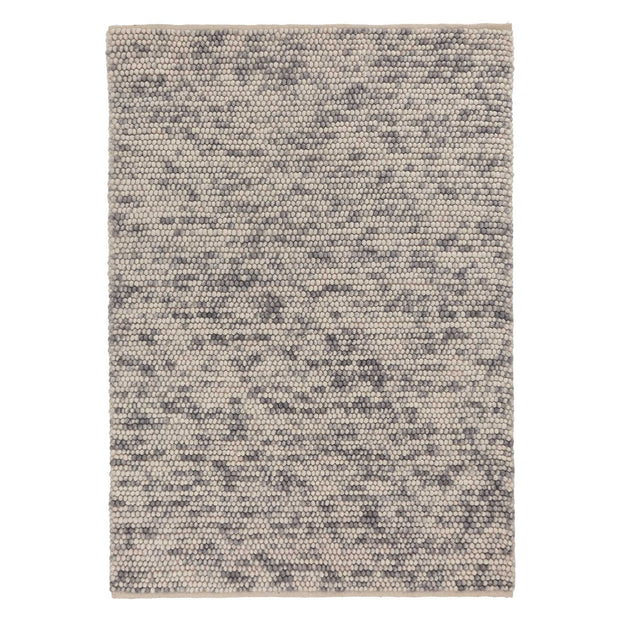Ravi rug, grey melange, 80% wool & 20% cotton | URBANARA wool rugs