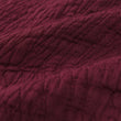 Ruivo bedspread, bordeaux red, 100% cotton | URBANARA bedspreads & quilts