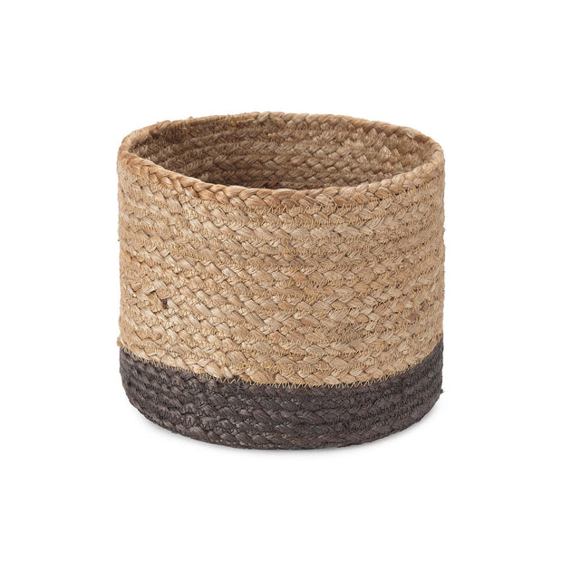Dasai Basket natural & charcoal, 100% jute
