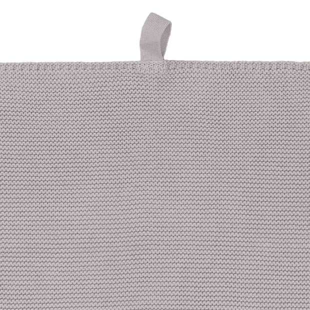 Safara Tea Towel Set silver grey, 100% cotton | URBANARA dishcloths