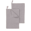 Safara Tea Towel Set silver grey, 100% cotton