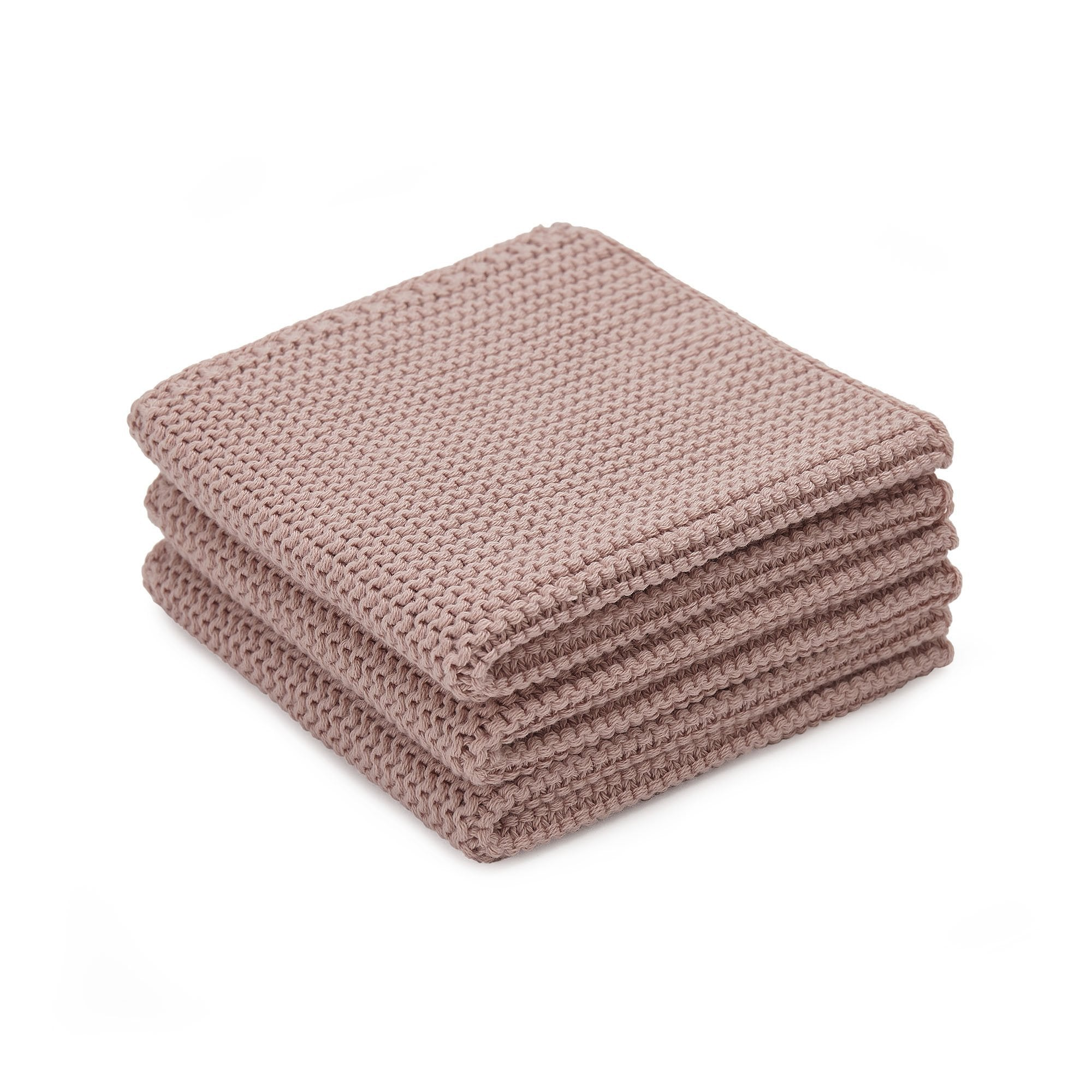 Safara dishcloth, powder pink, 100% cotton