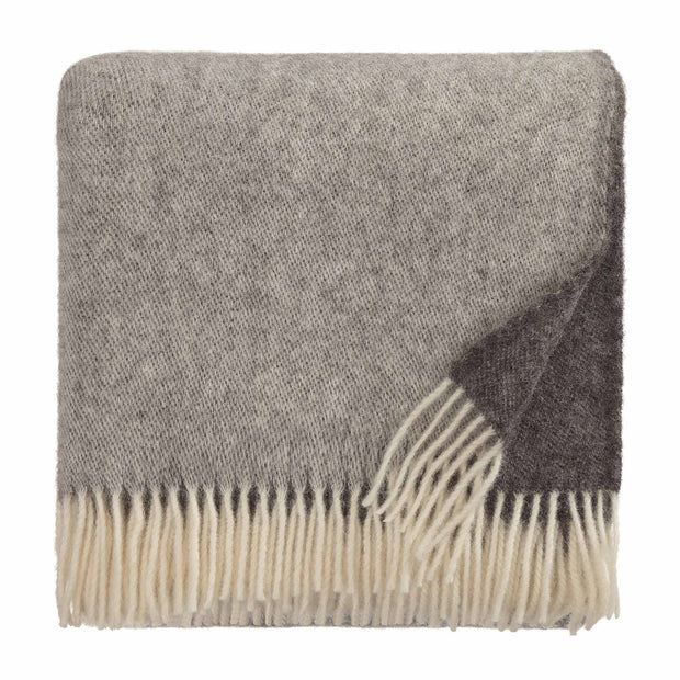 Salakas Wool Blanket brown & grey, 100% new wool