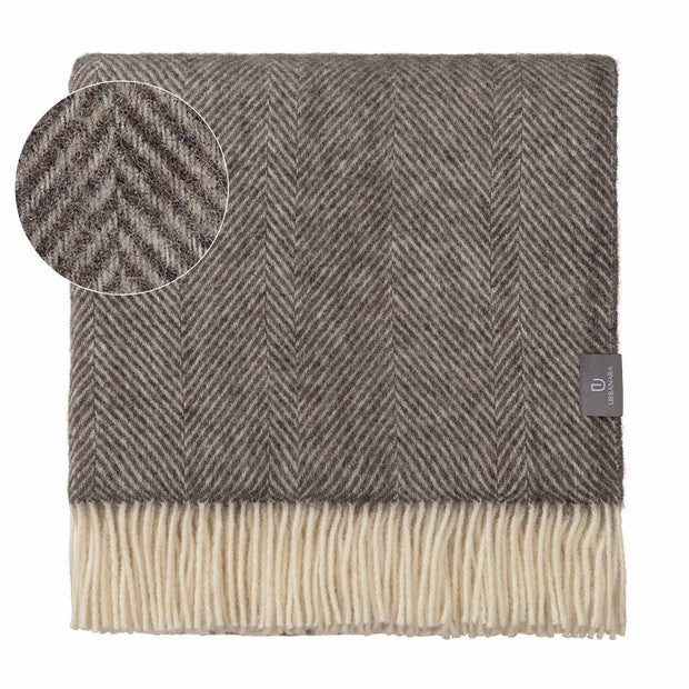 Salantai blanket, grey & cream, 100% new wool