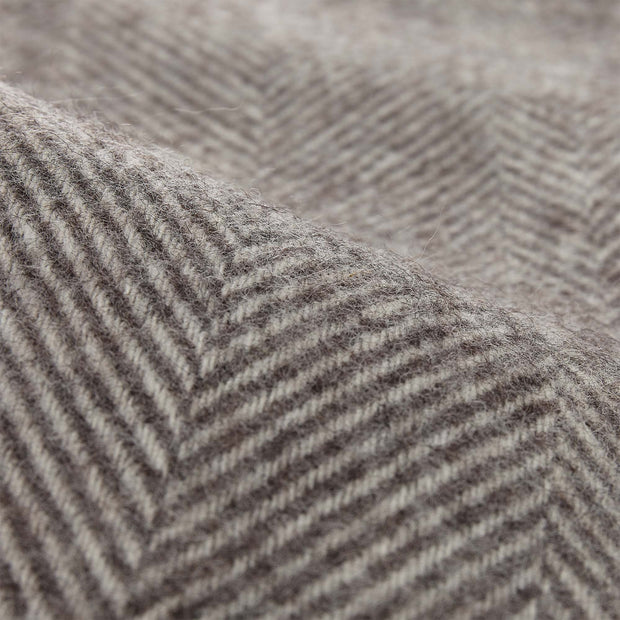 Salantai blanket, grey & cream, 100% new wool | URBANARA wool blankets