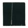 Saldus Wool Blanket dark green & cream, 100% new wool