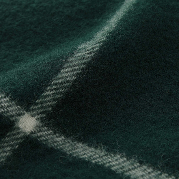 Saldus Wool Blanket dark green & cream, 100% new wool | High quality homewares