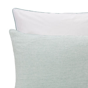 Sameiro Linen Bed Linen in green grey & white | Home & Living inspiration | URBANARA