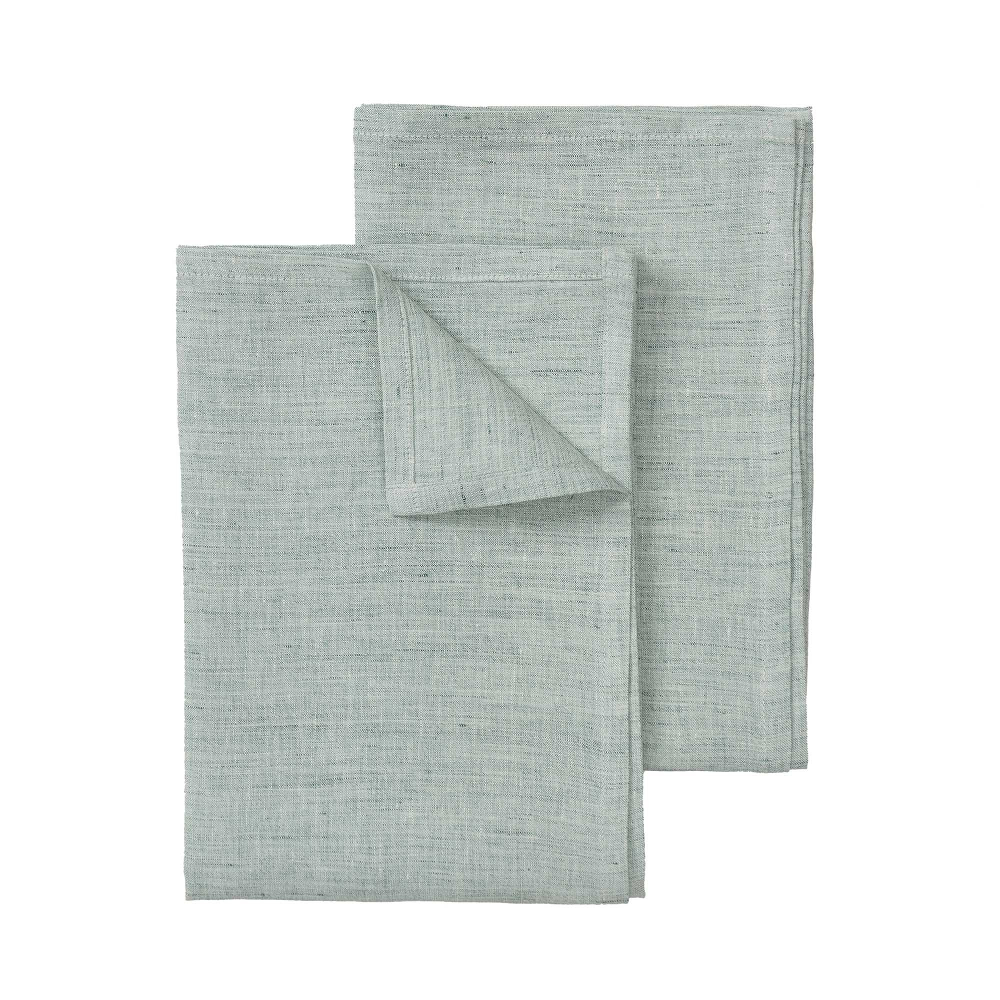 Sameiro Tea Towel green grey, 100% linen