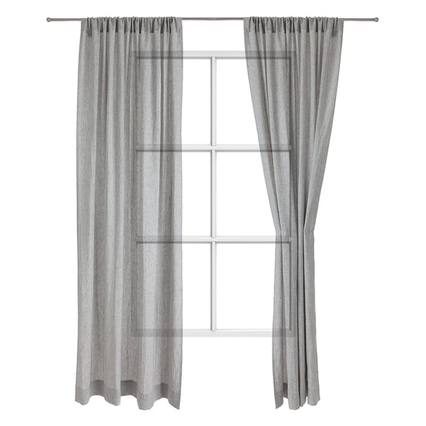 Sameiro curtain, grey, 100% linen