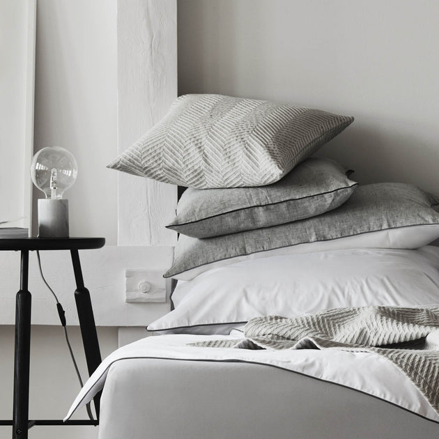 Lixa Cushion in grey melange | Home & Living inspiration | URBANARA