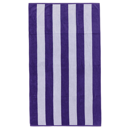 Serena beach towel, purple & white, 100% cotton