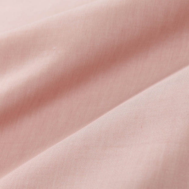 Soure duvet cover, dusty pink & natural white, 100% cotton | URBANARA sateen bedding