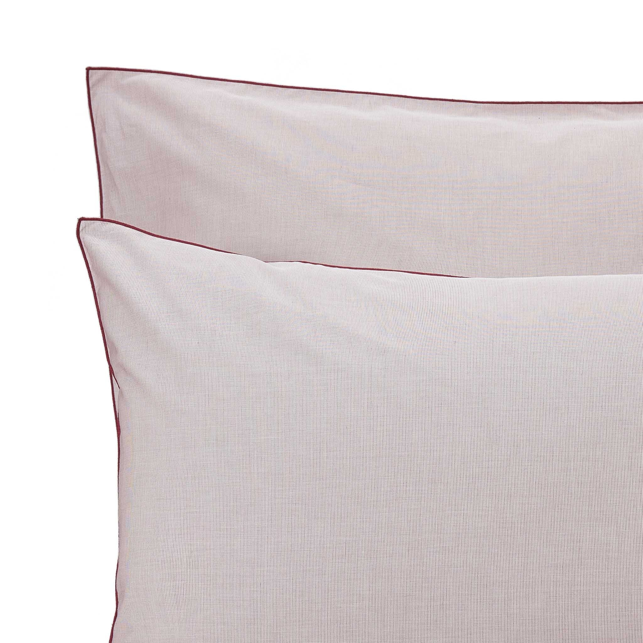 Sousa Bed Linen in dark red & white | Home & Living inspiration | URBANARA
